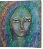 Visioning Woman Of Living Waters Wood Print