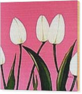Visions Of Springtime - Abstract - Triptych Wood Print