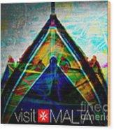 Visit Malta Wood Print