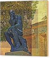 Visit To The Thinker Wood Print