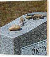 Visitation Stones On Jewish Grave Wood Print