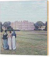 visiting Mr Darcy Wood Print