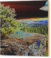 Visiting Rimrock In Spokane Wood Print