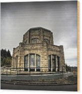 Vista House At Crown Point - Oregon Wood Print