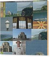 Vista House Collage Wood Print