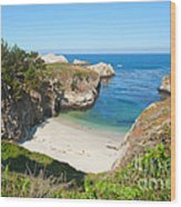 Vista Of China Cove At Point Lobos State Reserve California Wood Print