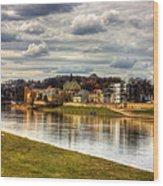 Vistula River In Cracow Wood Print