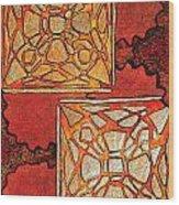 Vitrales II From The Frank Lloyd Wright A Mano Series Wood Print