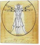 Vitruvian Cyberman Wood Print