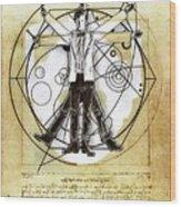 Vitruvian Dr Who Wood Print