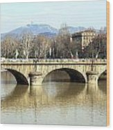 Vittorio Emanuele I Bridge Wood Print