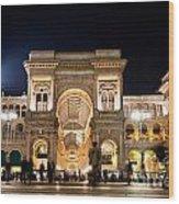 Vittorio Emanuele II Gallery Wood Print by Michal Bednarek