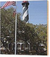 Viva Florida - The St Augustine Lighthouse Wood Print by Christine Till