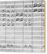 Vivaldi Manuscript Wood Print