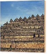 Vivid Borobudur Wood Print