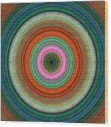 Vivid Peace - Circle Art By Sharon Cummings Wood Print