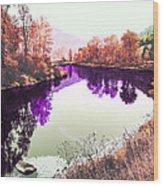 Vivid River Wood Print