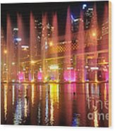 Vivid Sydney By Kaye Menner -  Vivid Aquatique  Wood Print