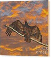 Vivid Vulture Wood Print by Al Powell Photography USA
