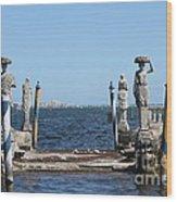 Vizcaya - The Pier Wood Print