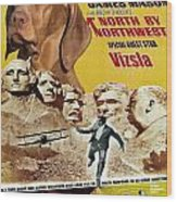 Vizsla Art Canvas Print - North By Northwest Movie Poster Wood Print