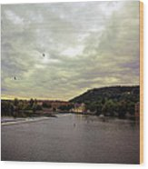 Vltava View Revisited - Prague Wood Print
