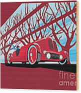 Vntage Racer Wood Print
