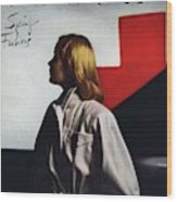 Vogue Cover Featuring A Model Wearing A White Wood Print