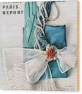 Vogue Cover Featuring Various Accessories Wood Print