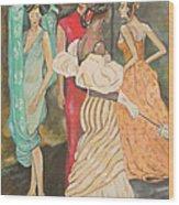 Vogue Ladies Wood Print