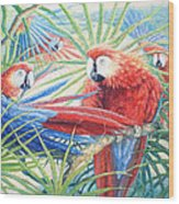 Voices Of The Amazon Wood Print