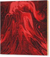 Red Volcanic Dreams Wood Print