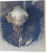 Volcanic Eruption Eruption Volcano Volcanism Wood Print