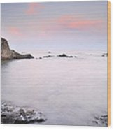 Volcanic Pink Sunset Wood Print
