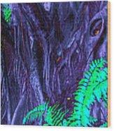 Volcanic Tree 2 Wood Print