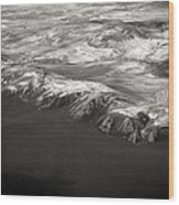 Volcano Ash Iceland Wood Print