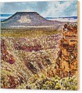 Volcano At Grand Canyon Arizona Wood Print