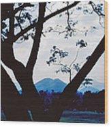 Volcano Mt. Pinatubo In Phillipines Wood Print