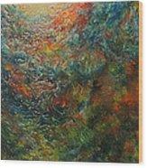Volcano Under Water Wood Print