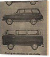 Volkswagen Advertisement Wood Print