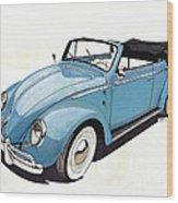Volkswagen Beetle Wood Print