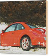 Volkswagen Snow Day Wood Print