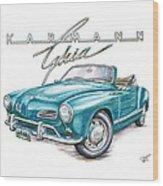 Volkswagon Karmann Ghia Wood Print