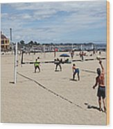 Volleyball At The Santa Cruz Beach Boardwalk California 5d23837 Wood Print