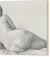 Voluptuous Reclining Nude Luxuriating On Victorian Settee After Eakins Wood Print