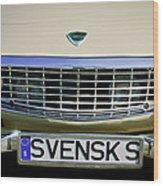 Volvo Grille Emblem -0198c Wood Print