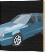 Volvo T5 Estate Wood Print by Tony Stark