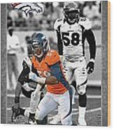 Von Miller Broncos Wood Print by Joe Hamilton