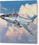 Voodoo In The Clouds - F-101b Voodoo Wood Print