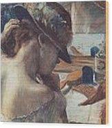 Vor Dem Spiegel Wood Print